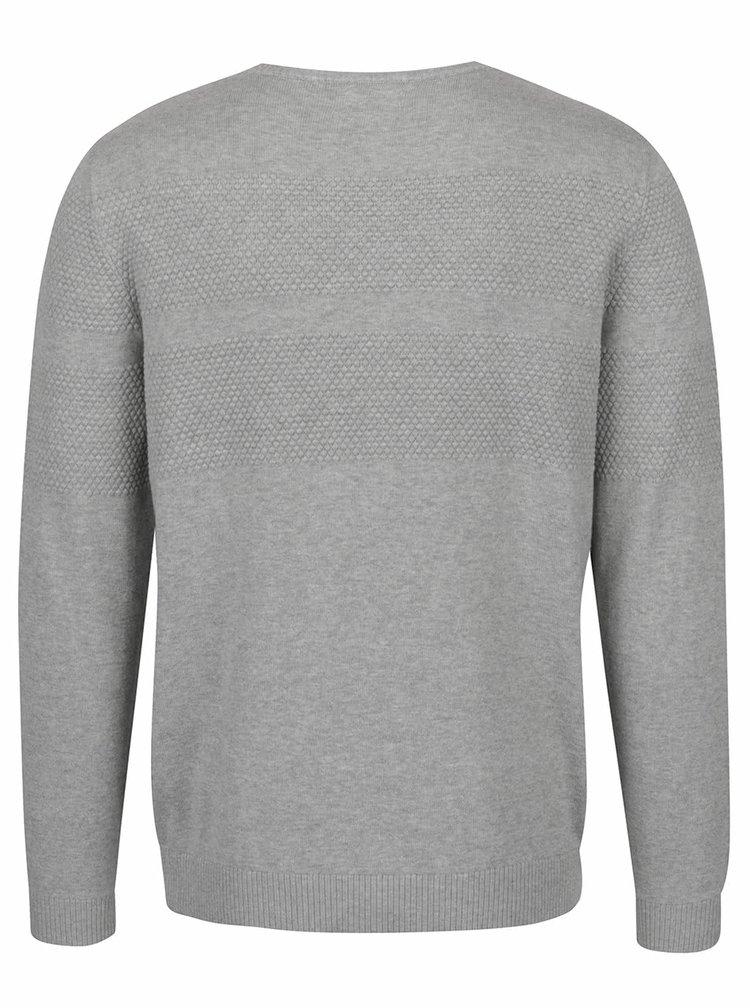 Bluză gri Selected Homme John din bumbac cu model discret