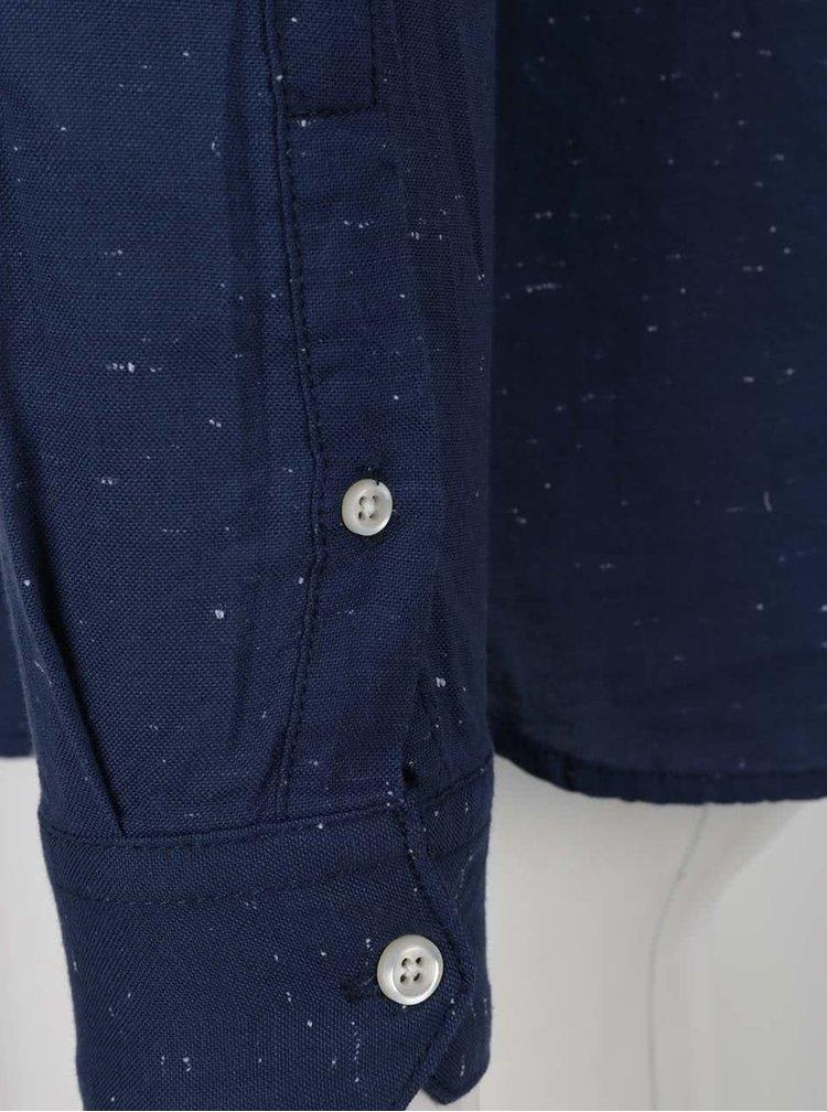 Tmavě modrá neformální košile s jemným vzorem Blend