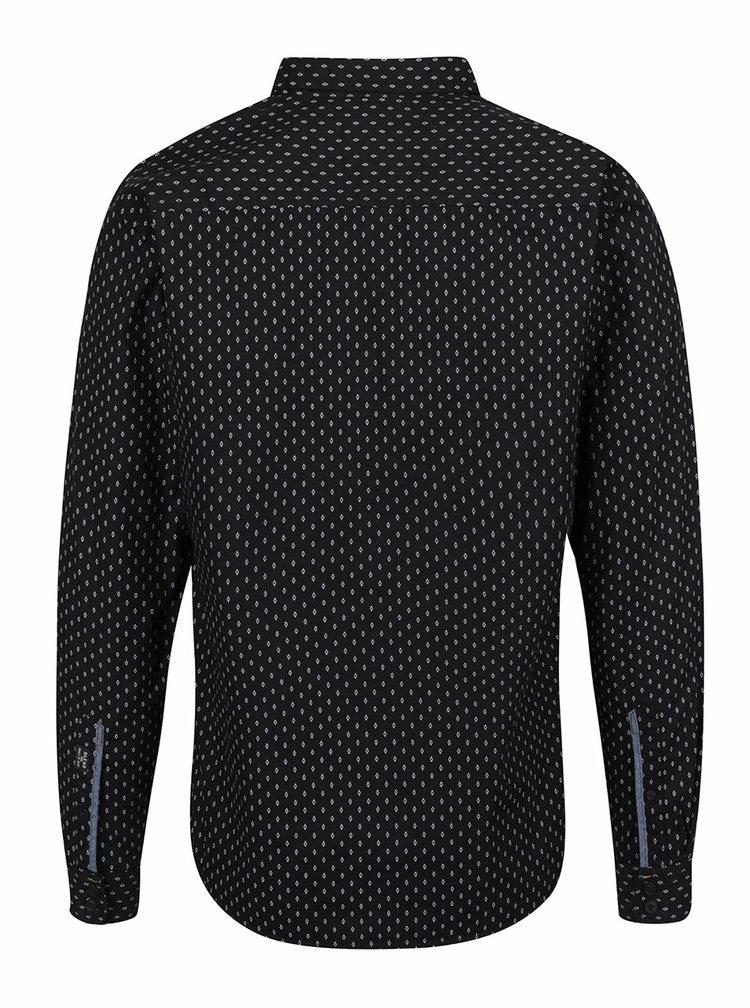 Černá košile s jemným vzorem Blend