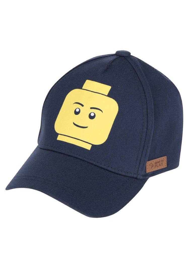 Tmavě modrá klučičí kšiltovka se žlutým potiskem LEGO Wear Carlos