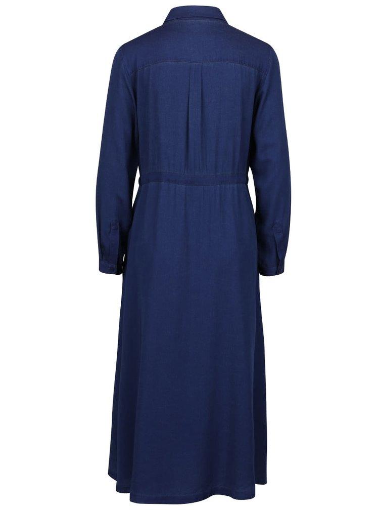 Tmavě modré volné propínací šaty French Connection Altman