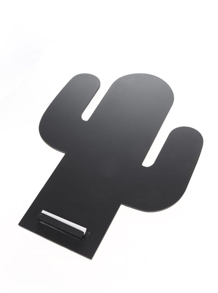 Černá tabule ve tvaru kaktusu Sass & Belle