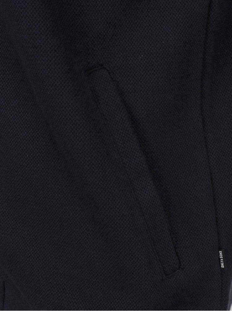 Tmavě modrá mikina na zip s kapucí ONLY & SONS New Finlo