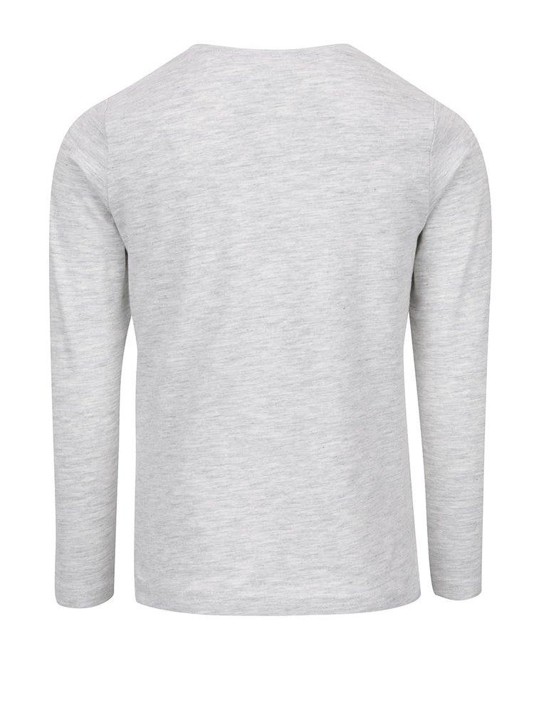 Bluză gri melanj deschis cu imprimeu name it Gemma pentru fetițe
