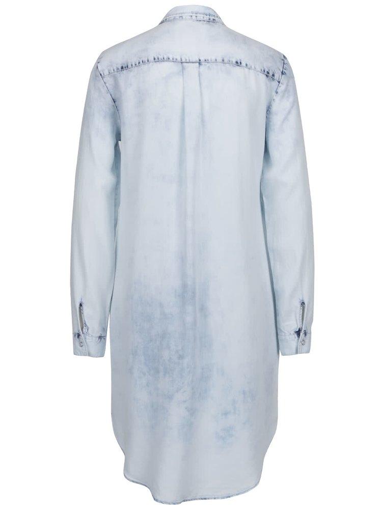 Světle modrá dllouhá košile VERO MODA Pipper