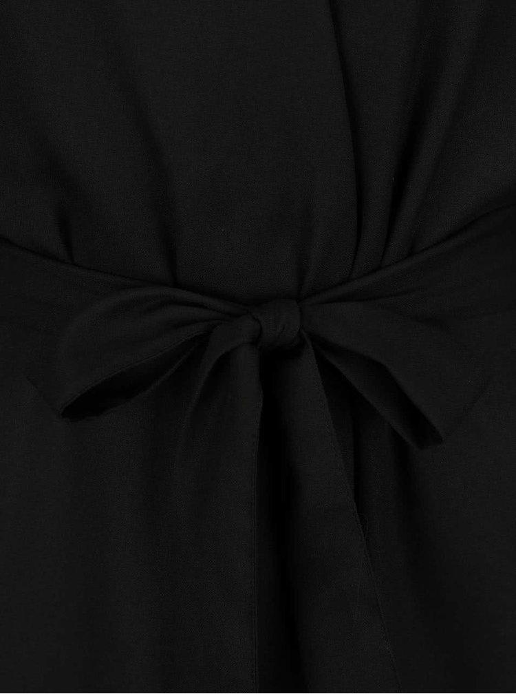 Pardesiu negru VERO MODA Elice cu model floral pe spate