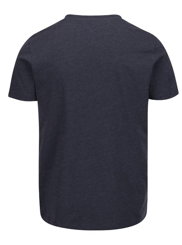 Tricou albastru închis cu imprimeu logo Jack & Jones Foam