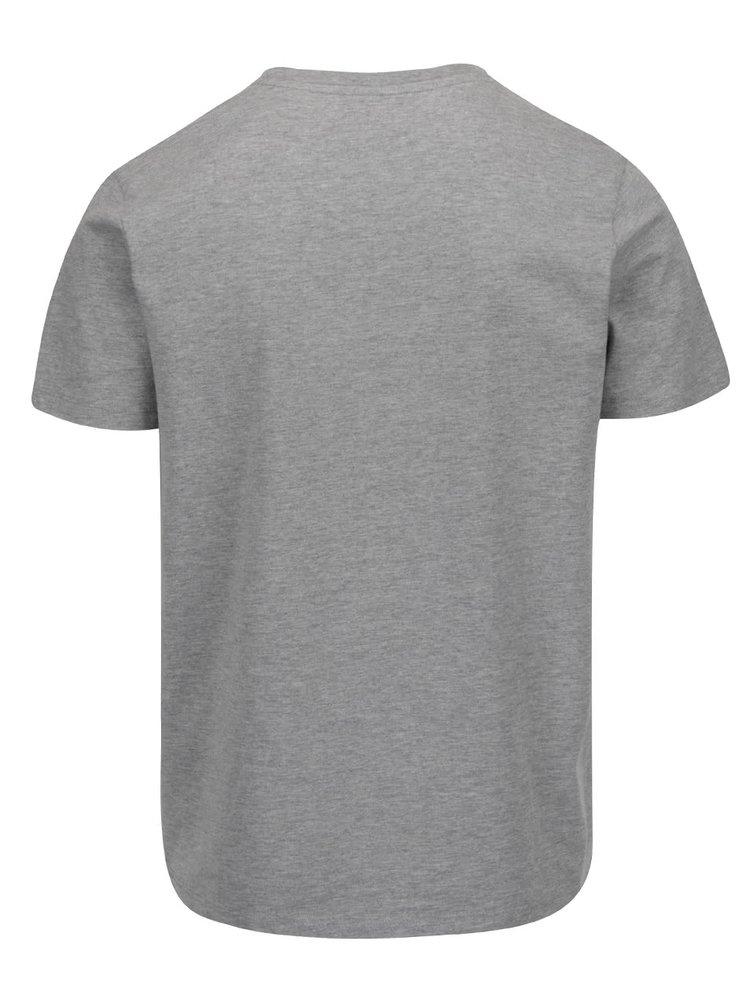 Světle šedé tričko s nápisem Jack & Jones Foam
