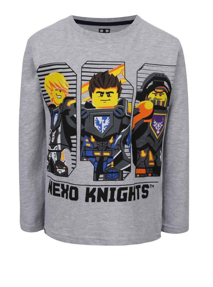 Šedé klučičí triko s potiskem a dlouhým rukávem LEGO Wear