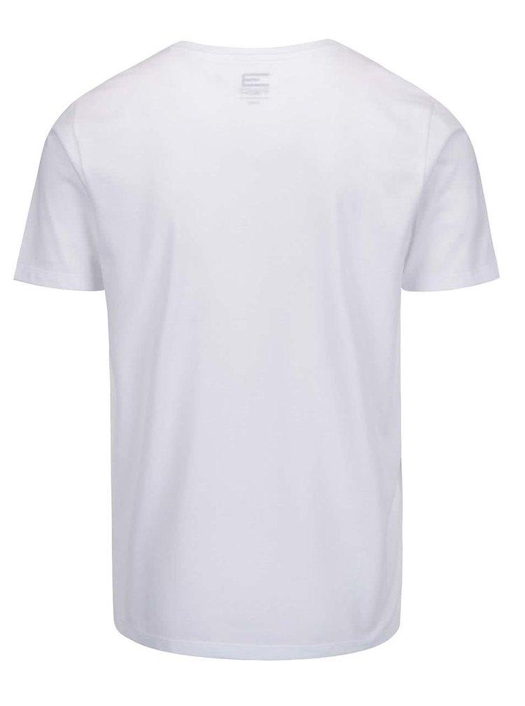 Tricou alb cu print logo Jack & Jones Foam