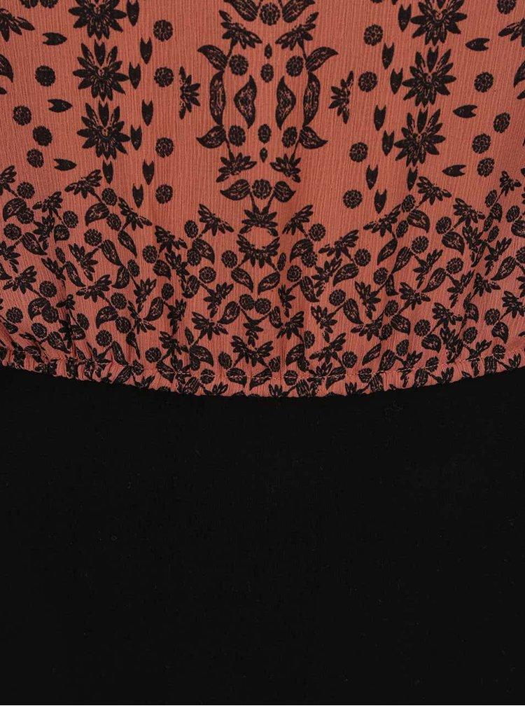 Černo-hnědé vzorované šaty VERO MODA Joleyn