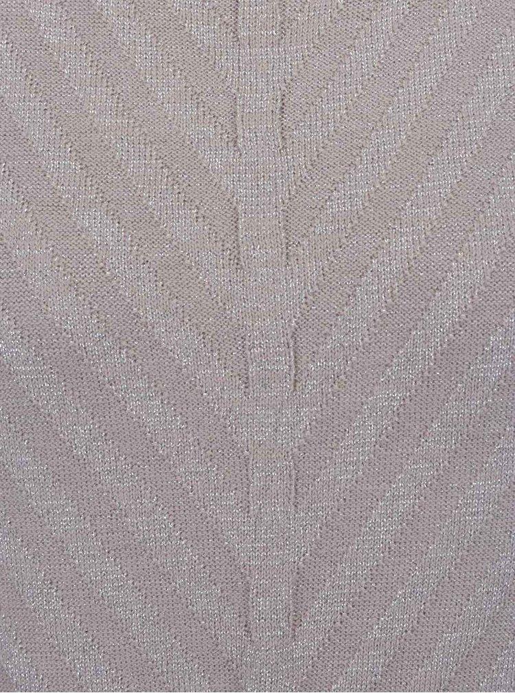 Bluză gri VERO MODA Sandra cu fir lurex