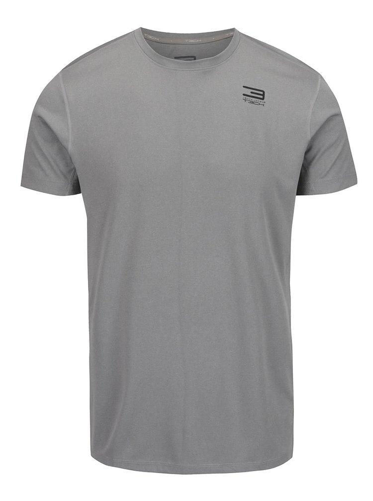 Tricou gri deschis Jack & Jones Basic pentru sport