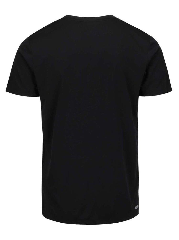 Tricou negru Jack & Jones Basic pentru sport
