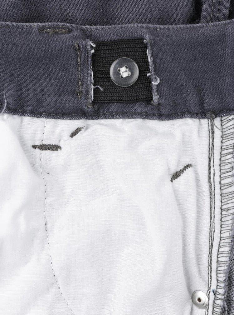 Tmavě šedé klučičí džíny s vyšisovaným efektem name it Clas