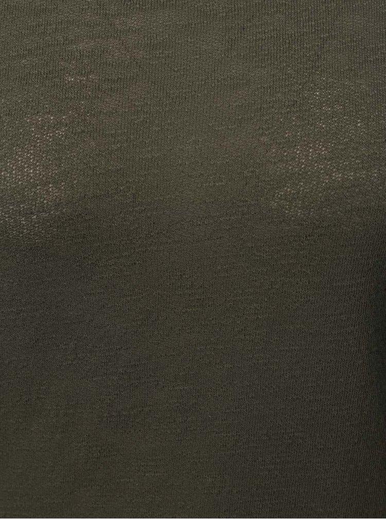 Bluză kaki cu mâneci trei sferturi ONLY Jess
