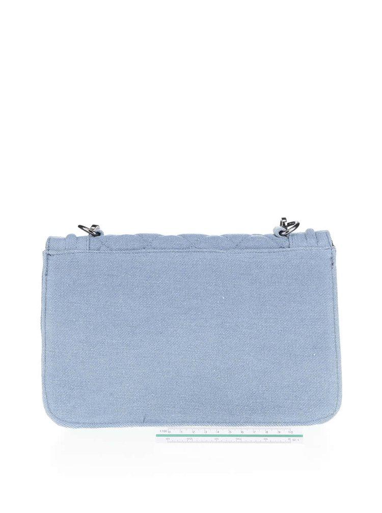 Světle modrá prošívaná crossbody kabelka Pieces