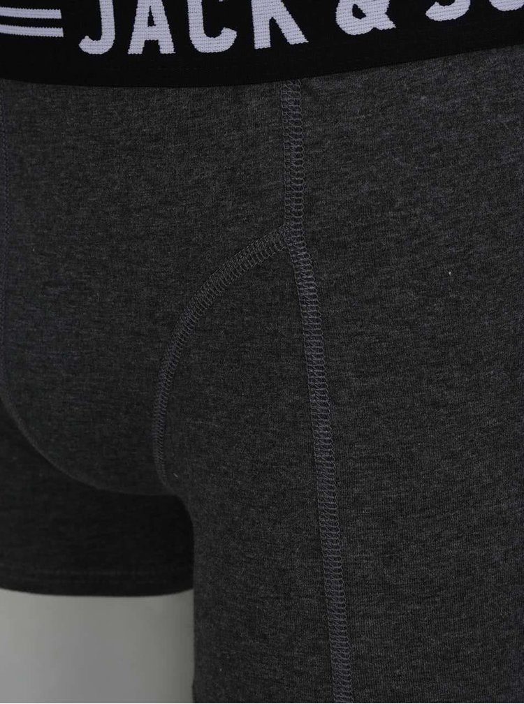 Sada tří boxerek v šedé, vínové a tmavě modré barvě Jack & Jones Lichfield