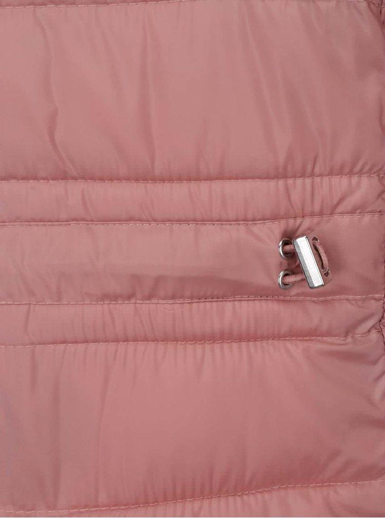 Geacă matlasată roz s.Oliver cu guler înalt