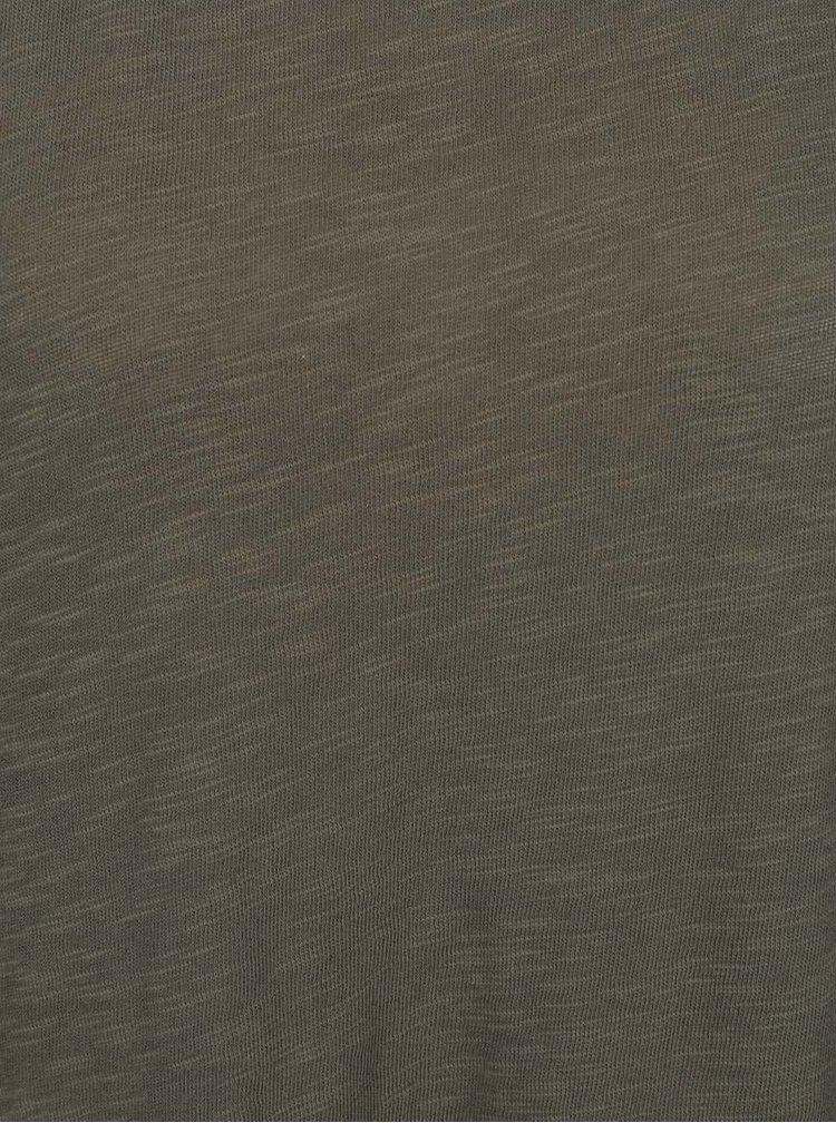 Olivovozelený top s 3/4 rukávom ONLY Casa