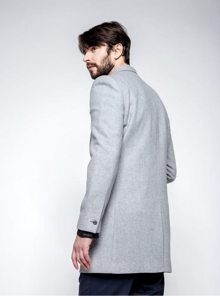 Světle šedý kabát Burton Menswear London