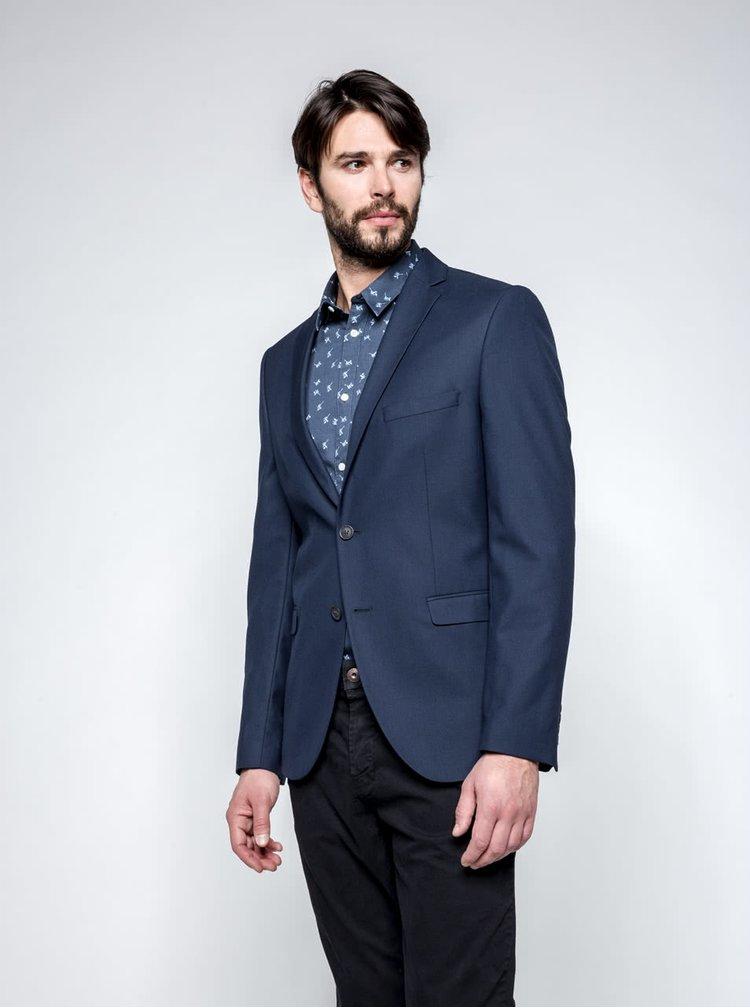 Sacou bleumarin Selected Homme Done Taxluke cu model discret