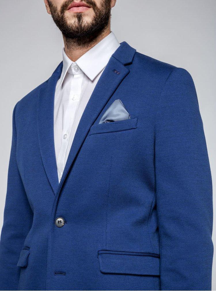 Sacou bleumarin Selected Homme One Owen cu umeri întăriți