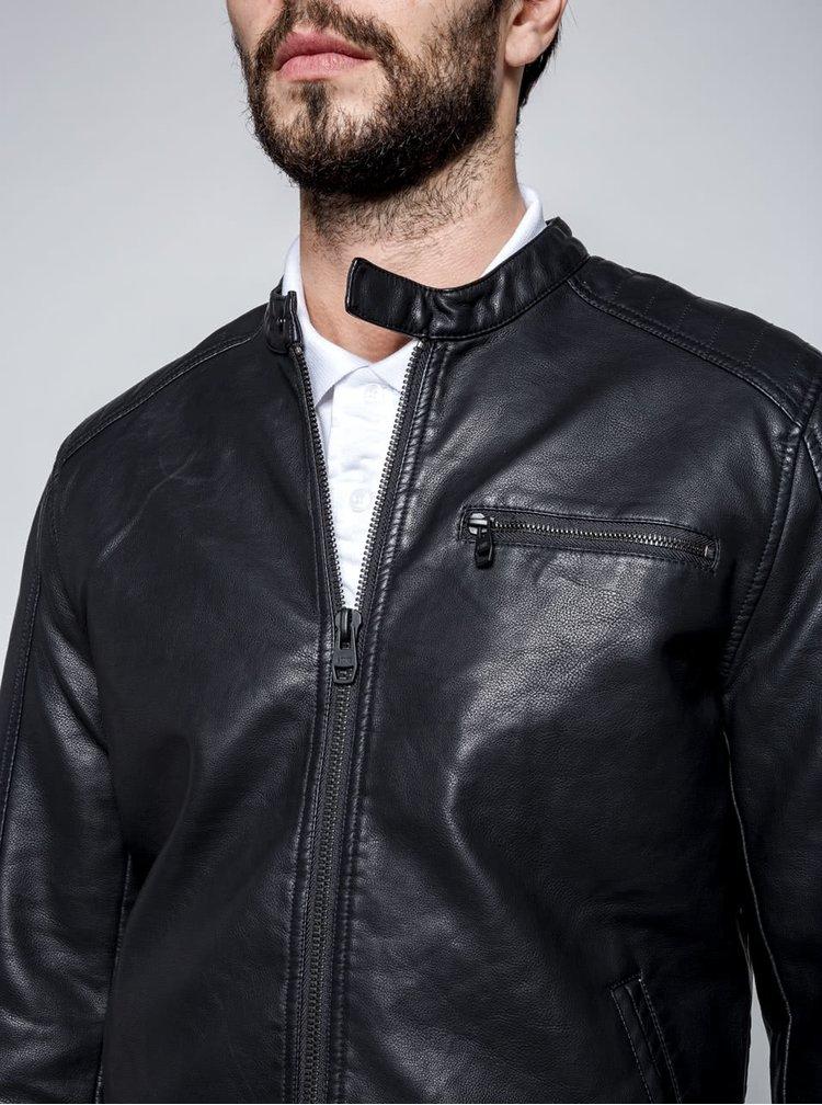 Jacheta neagra ONLY & SONS Joren din piele ecologica