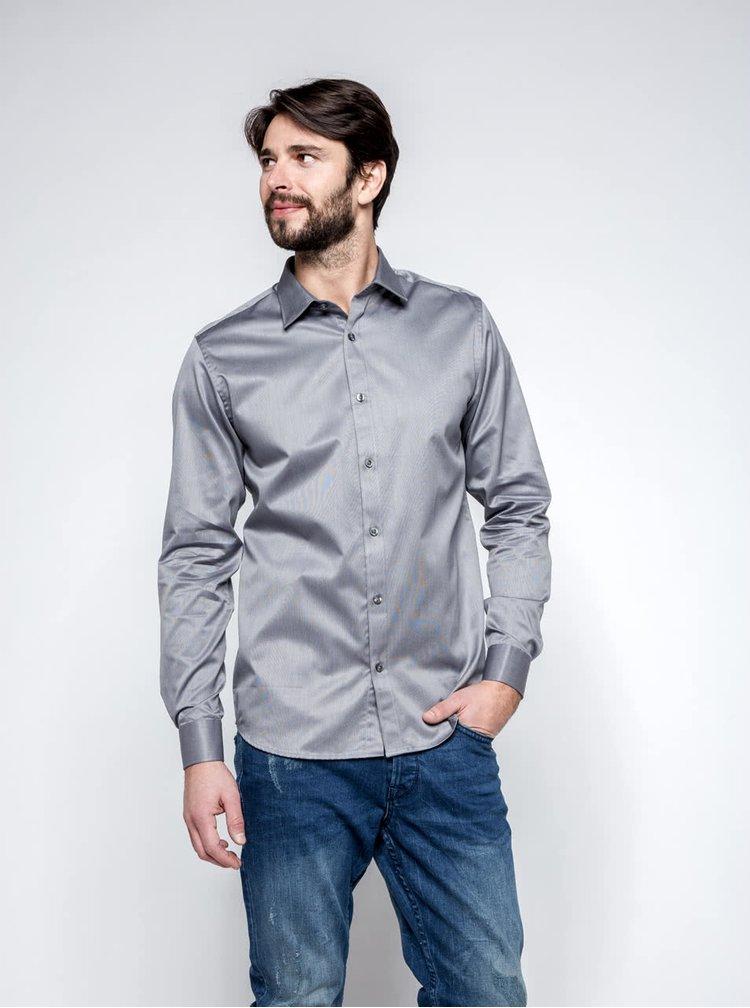 Šedá košile Selected Homme Pelle Santiago