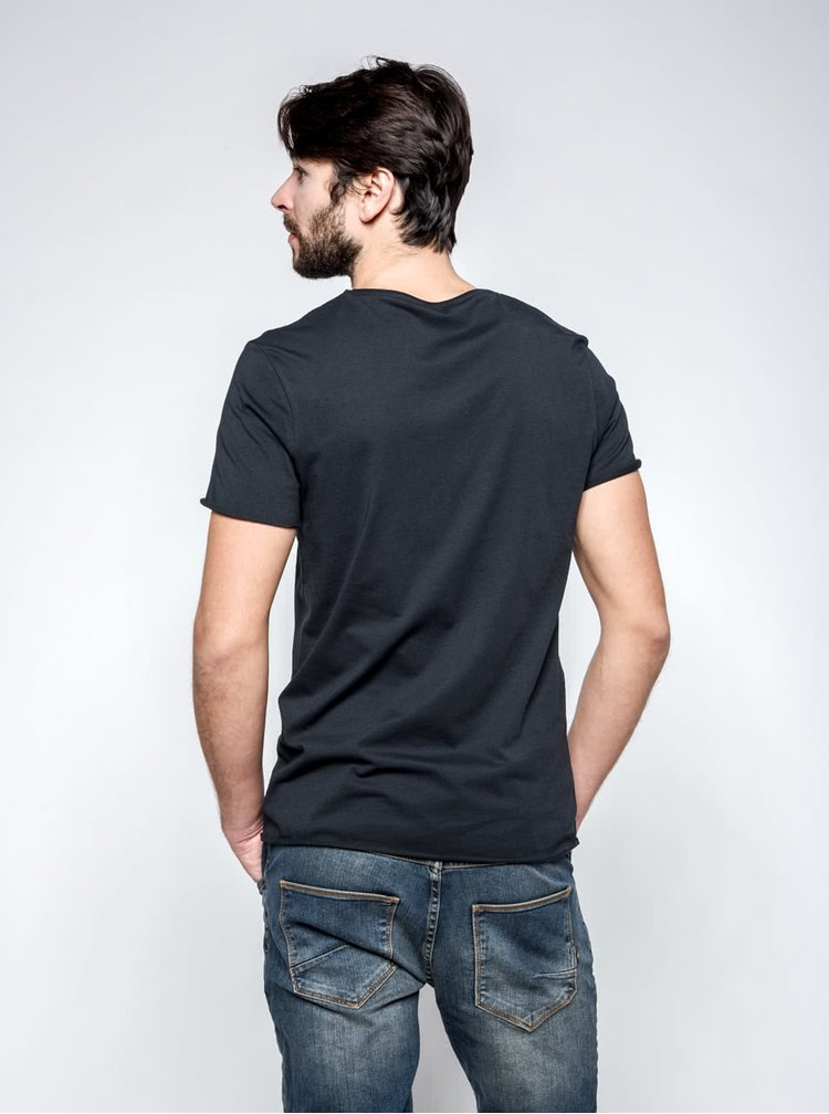 Tricou Selected Homme Merce negru