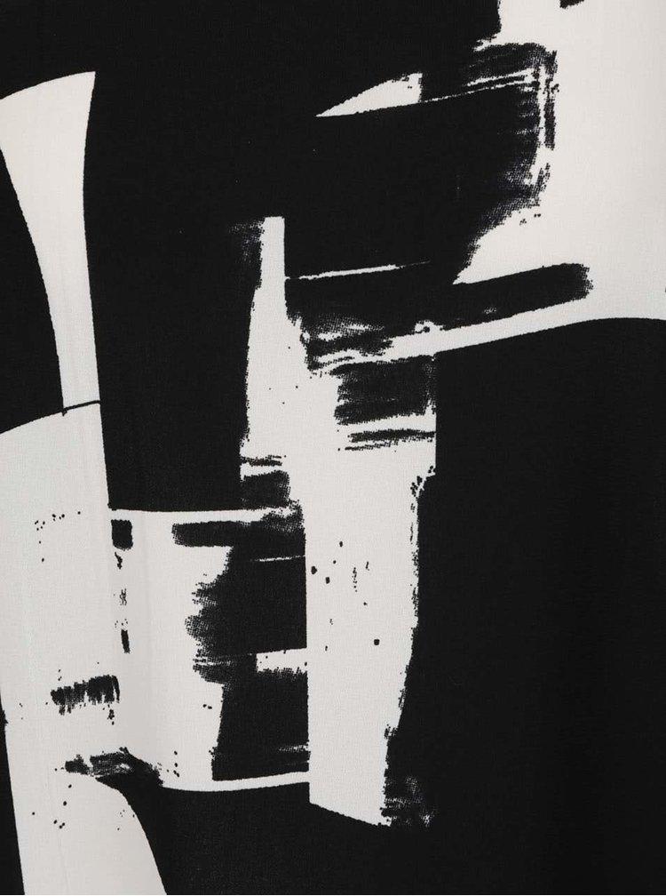 Rochie crem cu negru ONLY Max cu model abstract