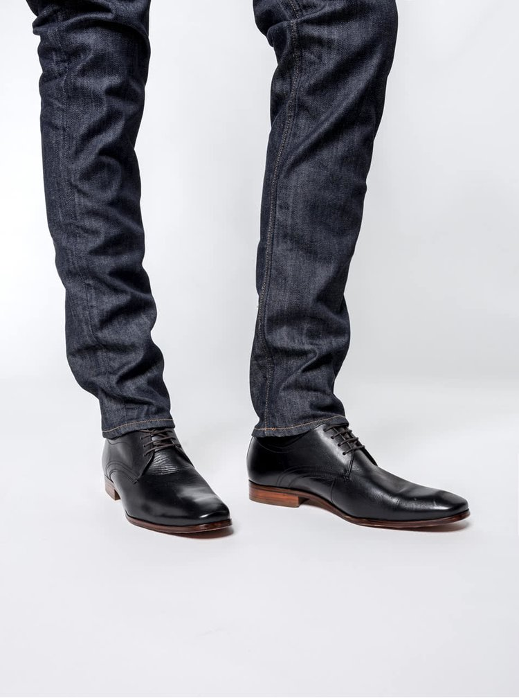 Pantofi Bugatti bărbătești negri din piele