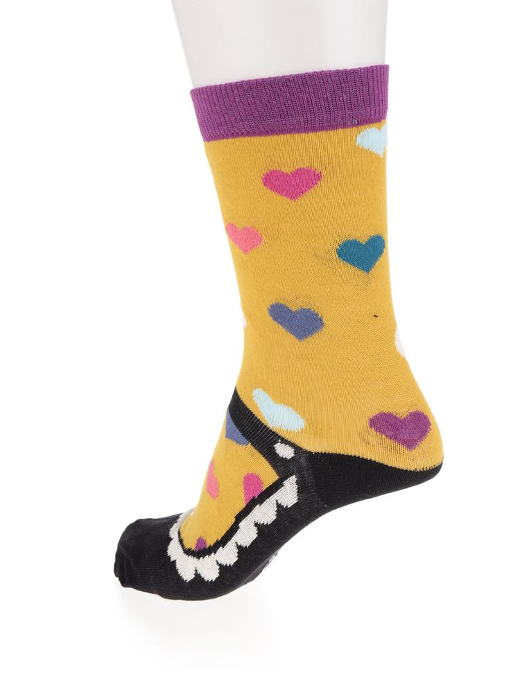 Sada šesti dámských ponožek v fialové a černé barvě Oddsocks Mary