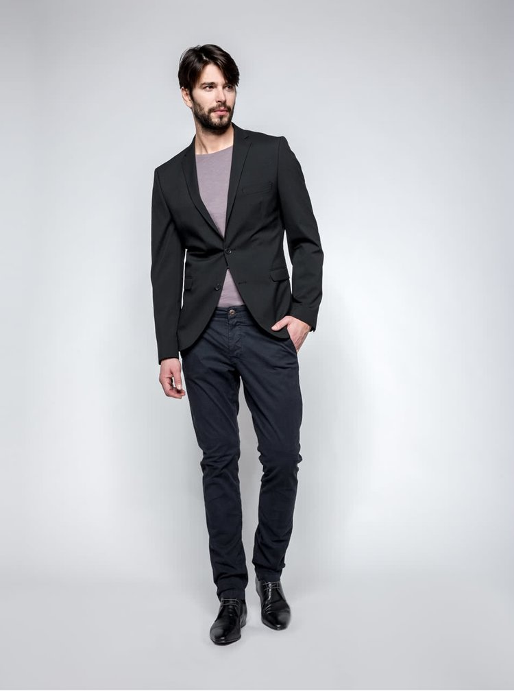 Černé oblekové sako Selected Homme Newone