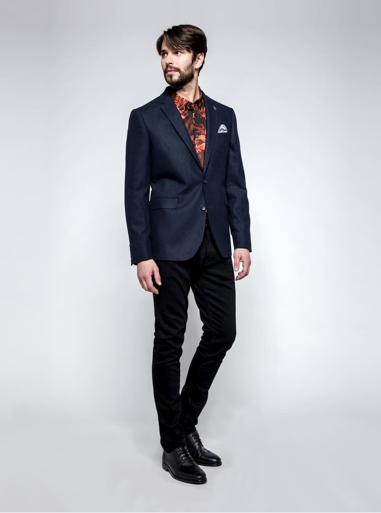 Sacou bleumarin Burton Menswear London cu buzunar interior