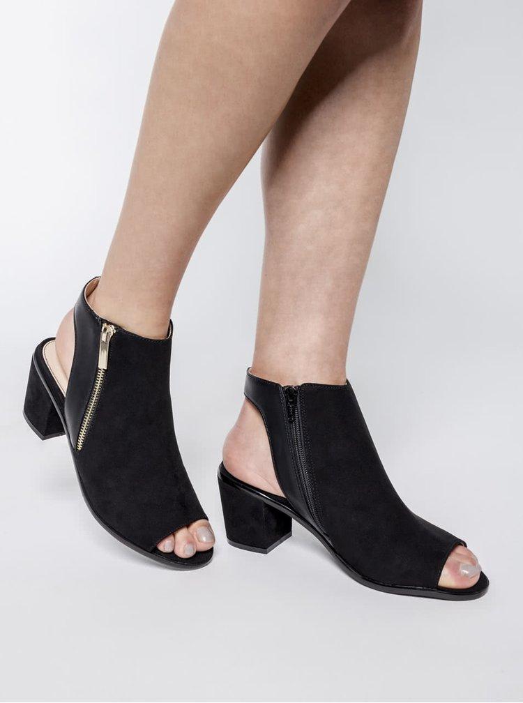 Sandale negre cu toc Miss Selfridge