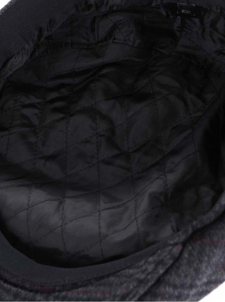 Tmavě šedá kostkovaná bekovka Dice Jockey Cap