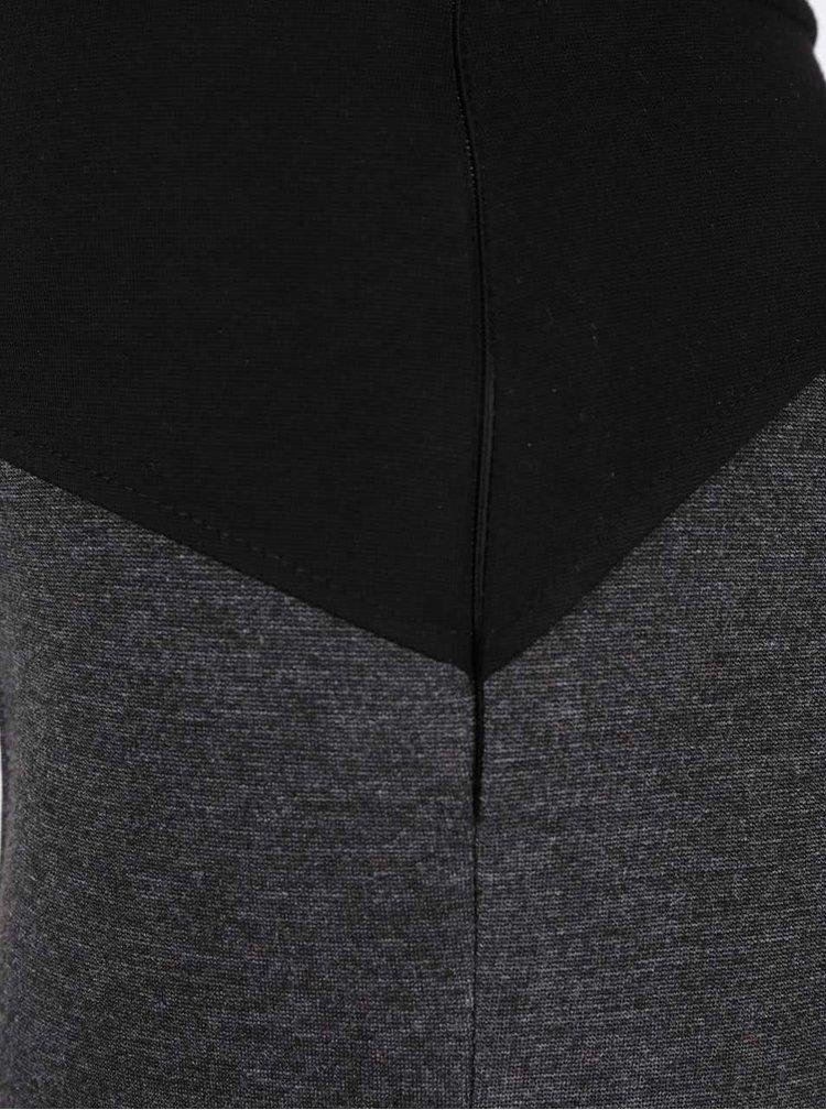 Černo-šedé elastické kalhoty Alchymi Situla