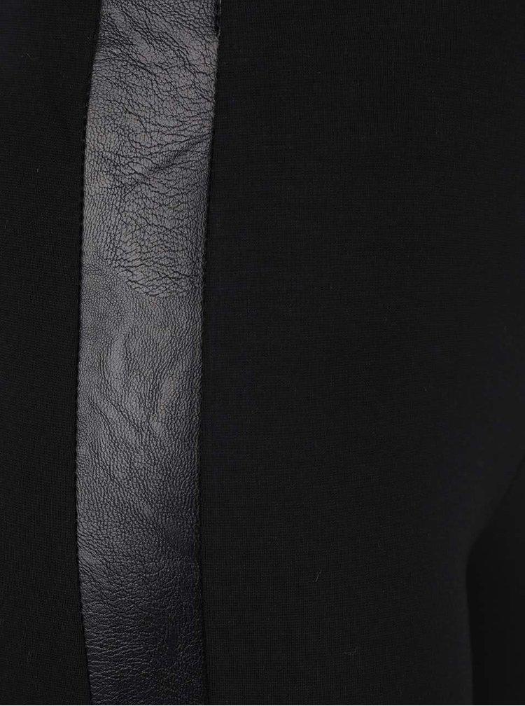 Colanți negri cu detalii din imitație de piele ZOOT