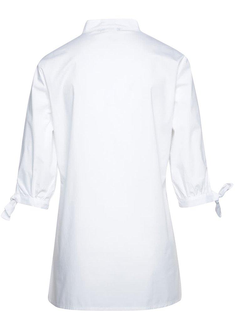 Bílá halenka s mašlemi na rukávech Alchymi Luna