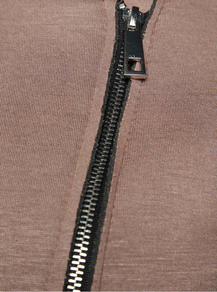 Béžová bunda s asymetrickým zapínáním Alchymi Davina