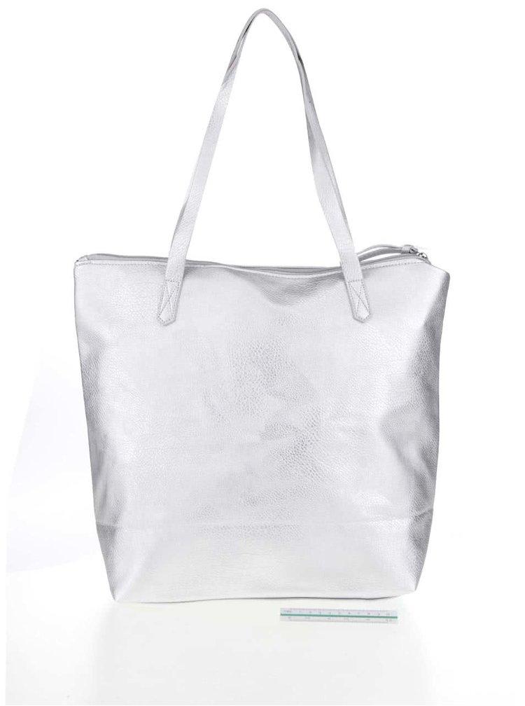 Shopper ve stříbrné barvě s potiskem TALLY WEiJL