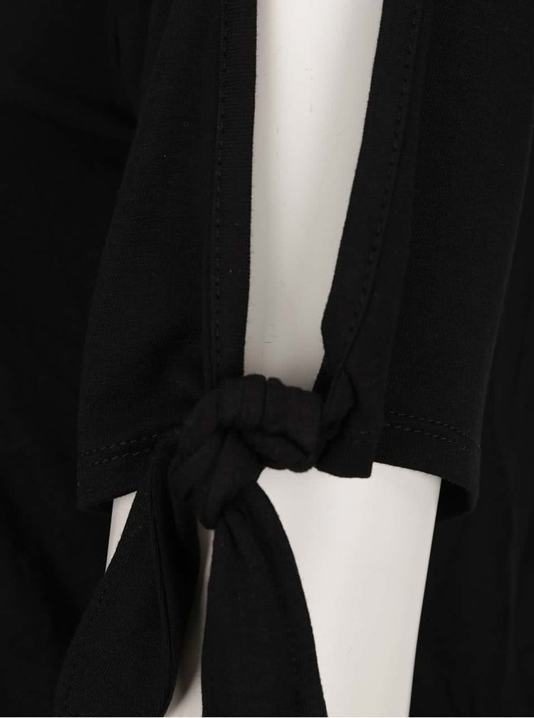 Černé tričko s průstřihy na ramenou Dorothy Perkins