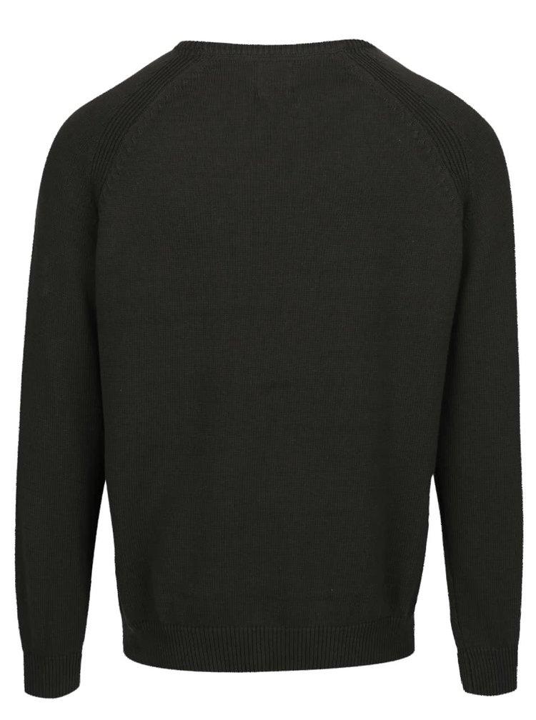 Khaki strukturovaný svetr Burton Menswear London