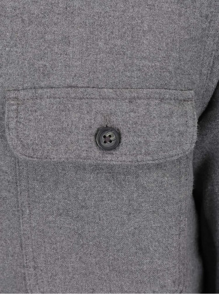 Šedá tenká flanelová bunda Burton Menswear London