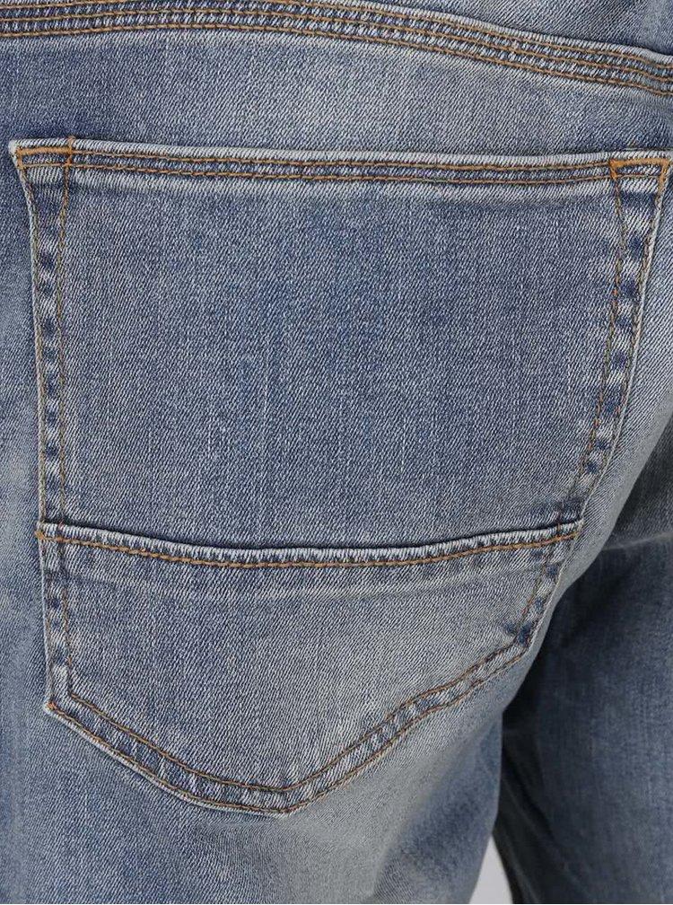 Blugi albastru deschis Burton Menswear London cu aspect prespălat