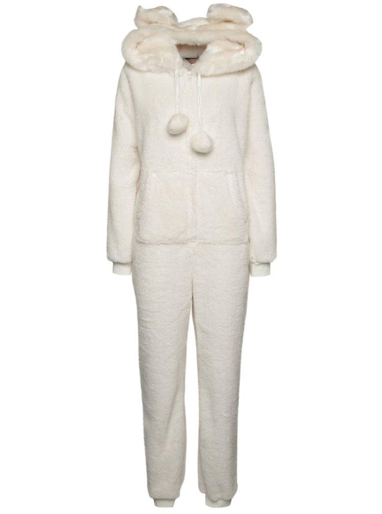 Pijama alba Dorothy Perkins cu gluga