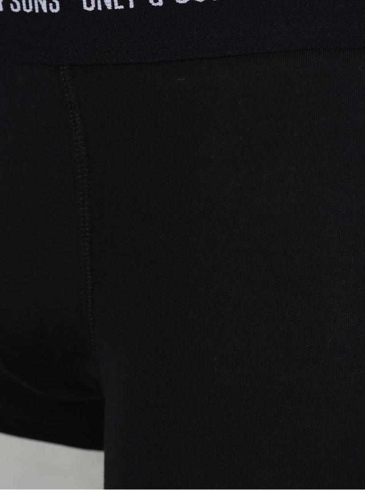 Černé boxerky  ONLY & SONS Nielsen