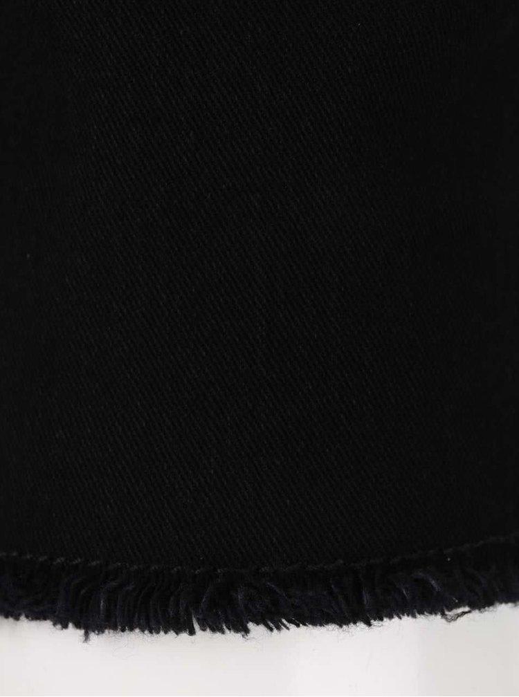 Černé skinny džíny s roztřepenými nohavicemi ONLY & SONS Warp