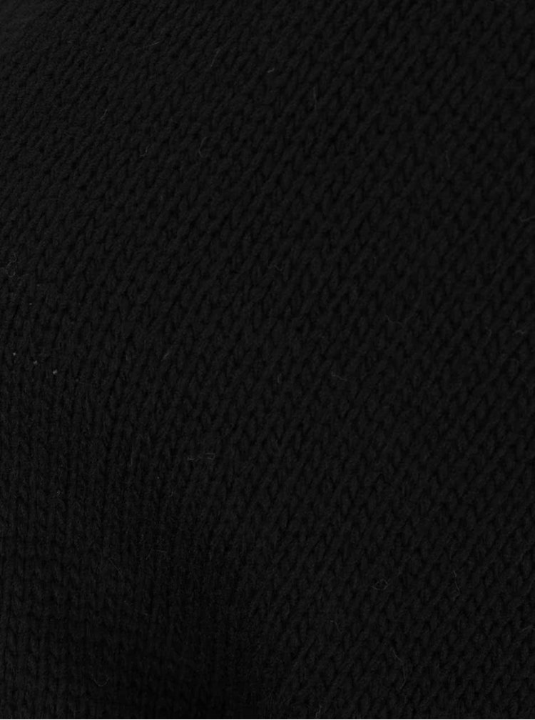 Černý cardigan s 3/4 rukávy Madonna Melissa
